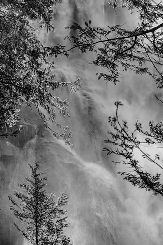 squamish britishcolumbia canada ca shannon falls waterfall black white bw