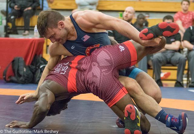 74KG  Evan Wick (Titan Mercury Wrestling Club) VPO1 Quinton Godley (Titan Mercury Wrestling Club), 5-1.  - 180519bmk0050