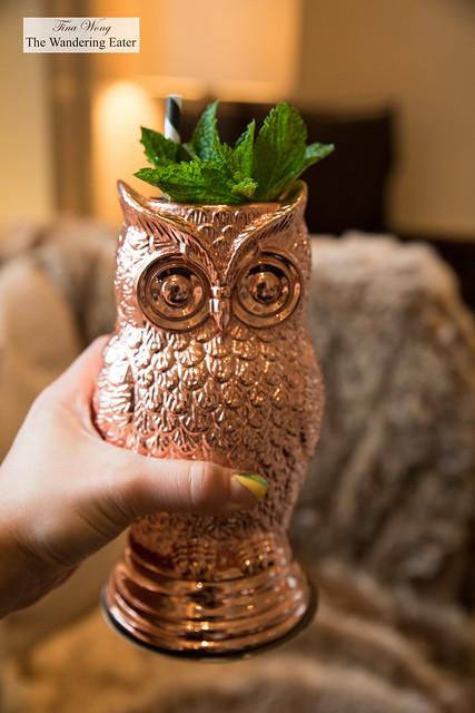 The Edition Owl - ELYX Vodka, Pomegranate, Boulard Calvados, Mumm Champagne