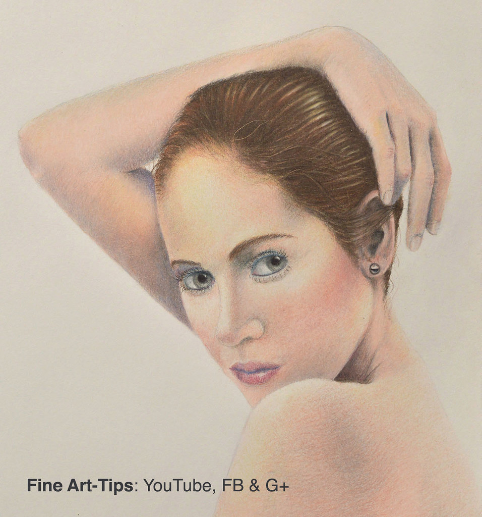 How to draw realistic flesh with color pencils narrated by fineart tips