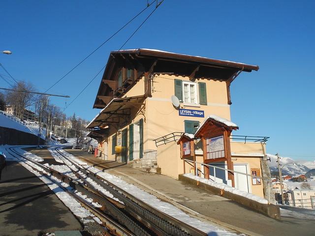 gare Leysin - Village