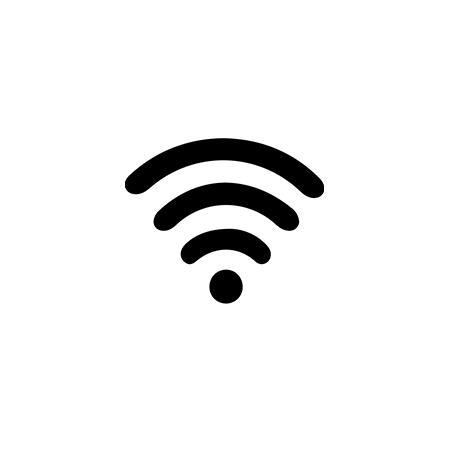 Wi-fi symbol.