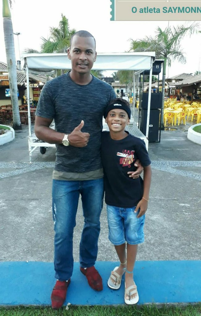 Paulo Marcos Cardoso dos Santos pai do atleta Saymonn Alves Cardoso