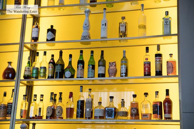 Spirits on the shelves
