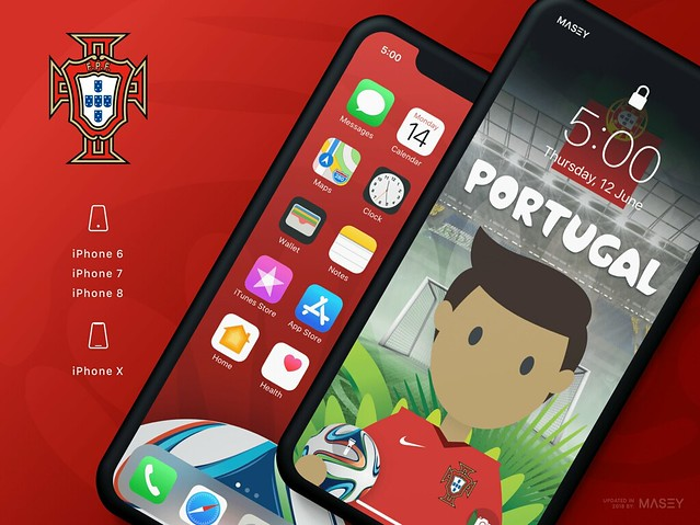 Team Portugal iPhone Wallpaper