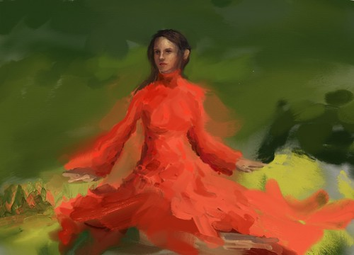 girl in red at forest 13 resized   by eduardobedoya