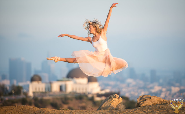LA Beautiful Ballerina Dancing Ballet Griffth Observatory Los Angeles City Skyline! Nikon D810 70-200mm VR2 F2.8! Fine Art Classical Ballet in Pointe Shoes Slippers Leotard Tutu Photography! High Res Model Portraits Professional Jette Jump Arabesque!