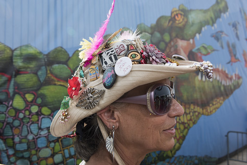 Hat at Jazz Fest day 5 on May 4, 2018. Photo by Ryan Hodgson-Rigsbee RHRphoto.com
