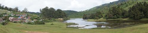 lake village naduvattam panorama sonyincamera india recreation