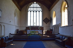 chancel with comfy leather sofas