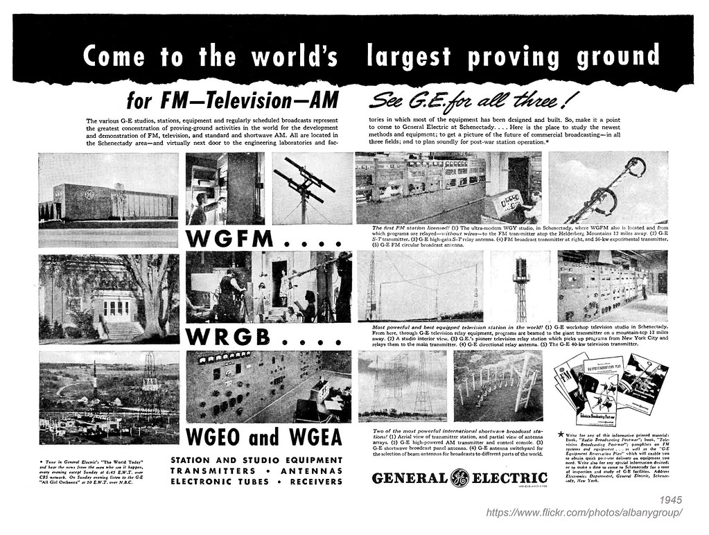 1945 wgy wrgb wgfm wgeo | AlbanyGroup Archive | Flickr
