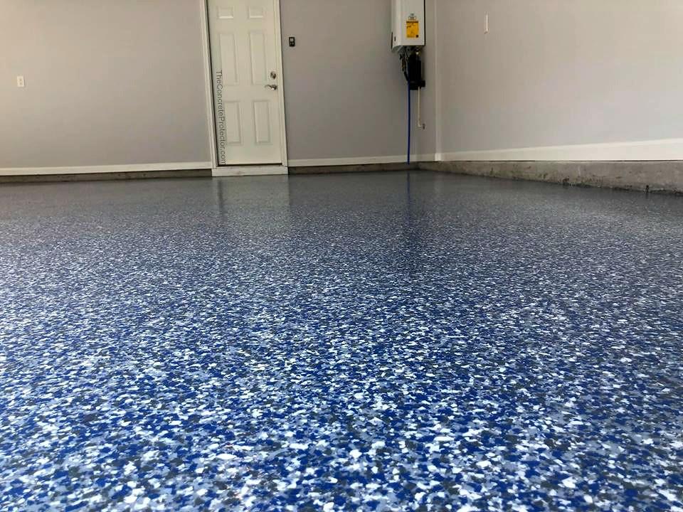 Epoxy Flake Garage Floor Cape Fear Concrete Coatings Lel
