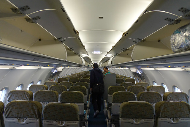 Interior of a civil aircraft