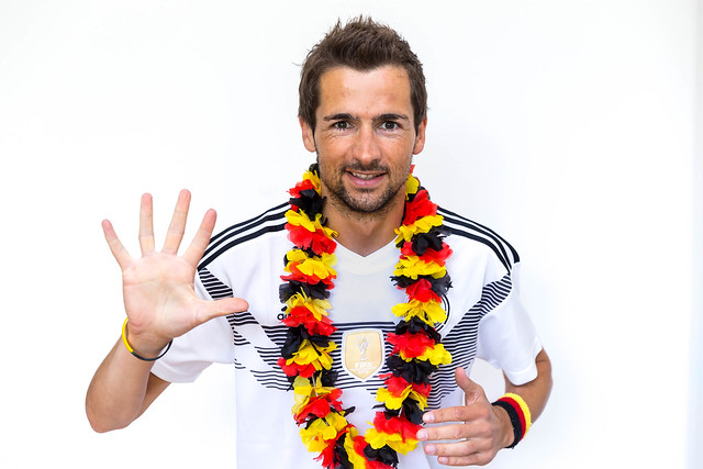 German fan looking forward to the fifth World Cup title