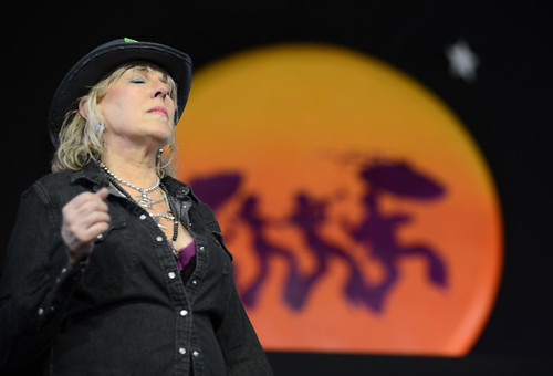 Lucinda Williams on Day 2 of Jazz Fest - 4.28.18. Photo by Leon Morris.
