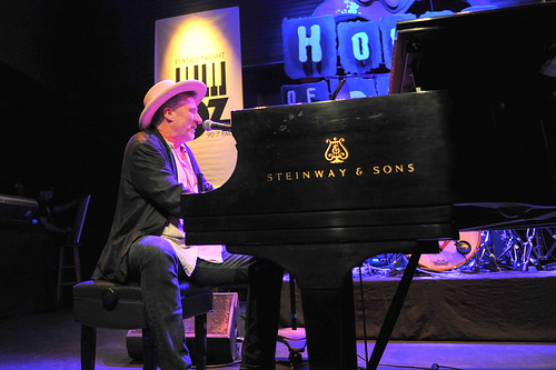 Jon Cleary at WWOZ's 30th Annual Piano Night - April 30, 2018. Photo by Michael E. McAndrew Photography.