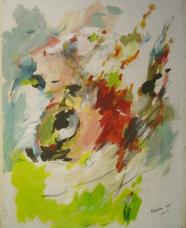 Jazz II - 73x60 cm Oil on paper 2012