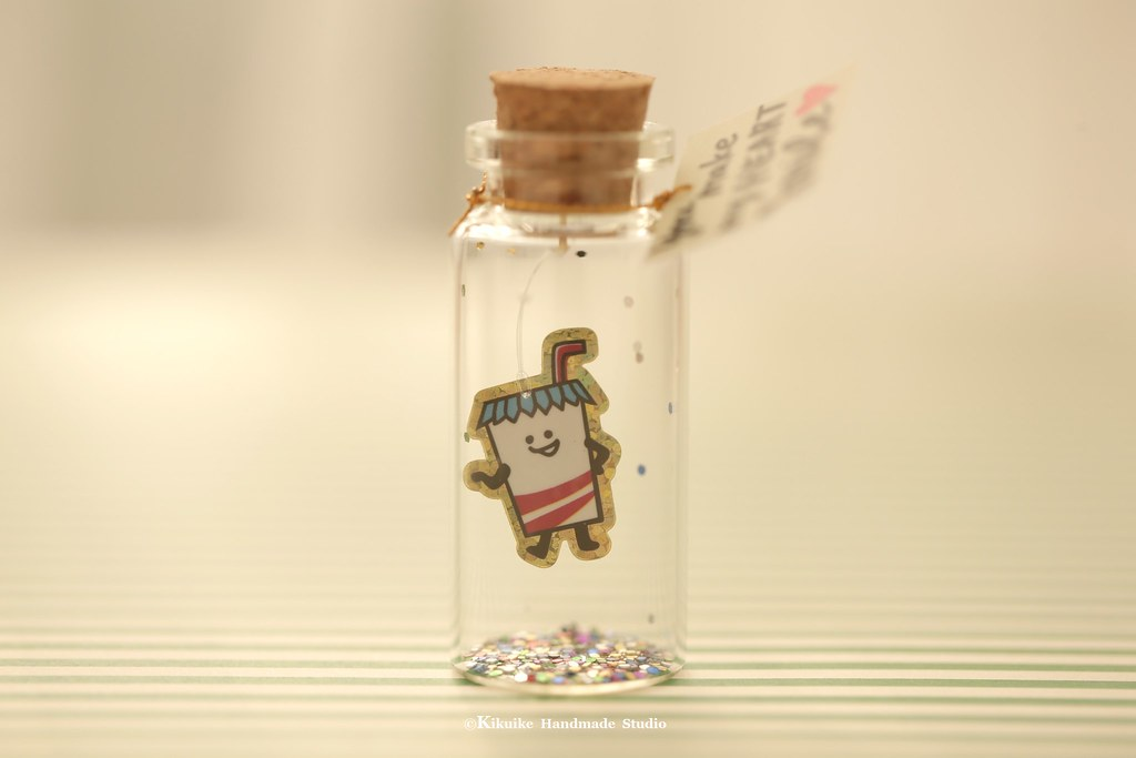 You make my heart smile,Tiny message in a bottle,Miniature