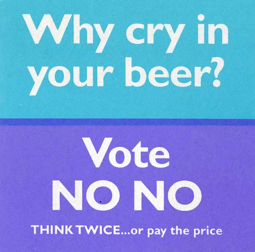 Think Twice beermat, 1997 referendum | by Scottish Political Archive