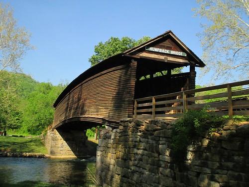 humpbackbridge coveredbridge alleghanycounty virginia