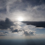 Sun Rays From A Plane
