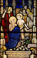 Mary and Joseph find the young Christ teaching in the temple (AK Nicholson)
