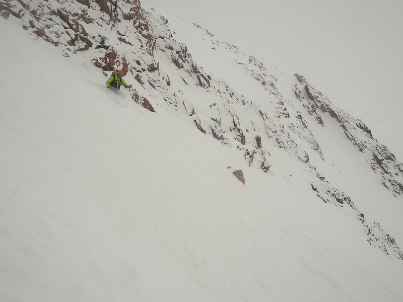 Scottish rules: Mark Howard on the Couloir of Destiny in perfect conditions if less than perfect weather