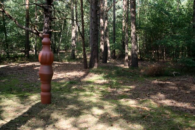 Artwork in Black Heath Wood near Snape