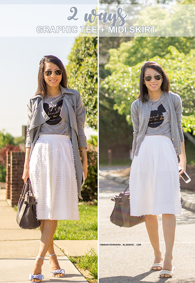 ffdc3148 ... 2 ways to wear graphic tee and midi skirt | by brightenday