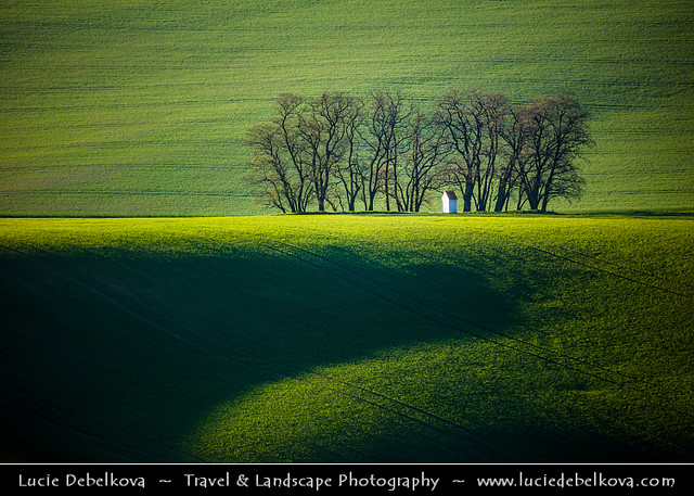 Czech Republic - South Moravia - Iconic rolling fields & chapel of Saint Barbara