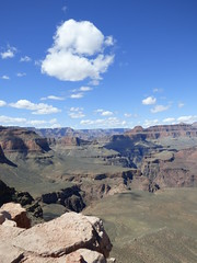 Grand Canyon - South Kaibab Trail, at Skeleton Point, looking west