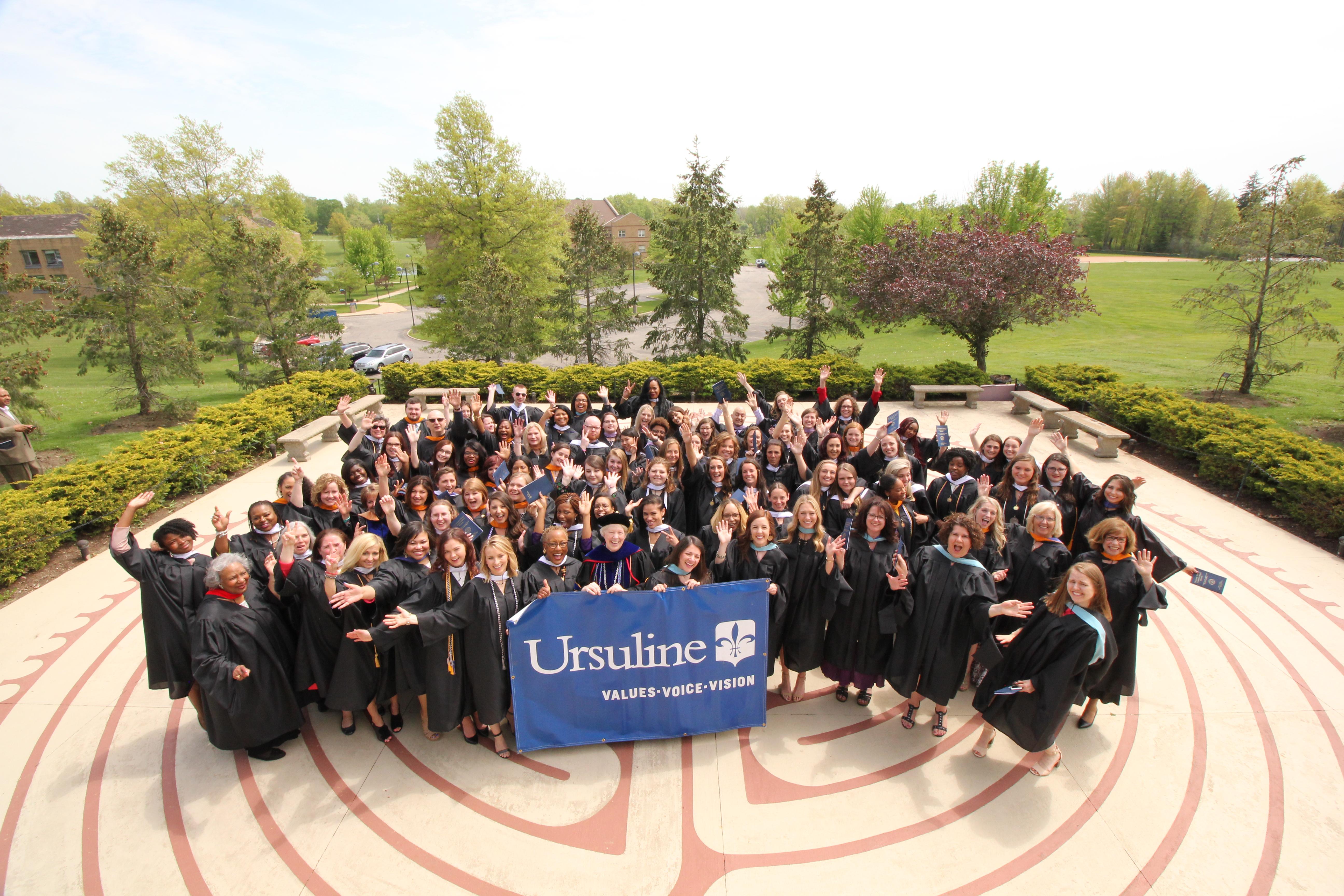 Class of 2018 after Baccalaureate Mass
