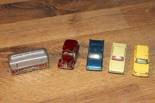 A small collection of Matchbox cars