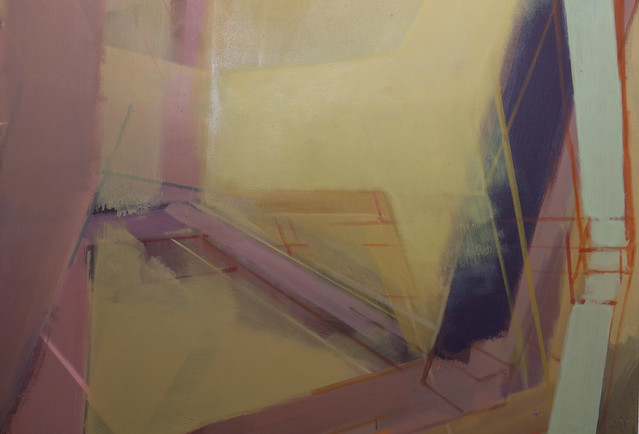 Horopter, K9-Pigment, 100  x 100 cm, 2018