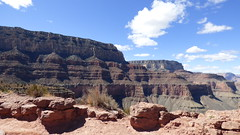 Grand Canyon - South Kaibab Trail, nearing Skeleton Point, looking west along the rim