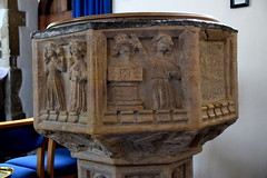 Althorne font: baptism of a king