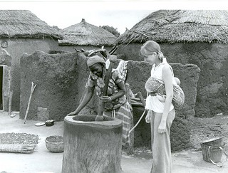 Women at the grinding mill Ghana