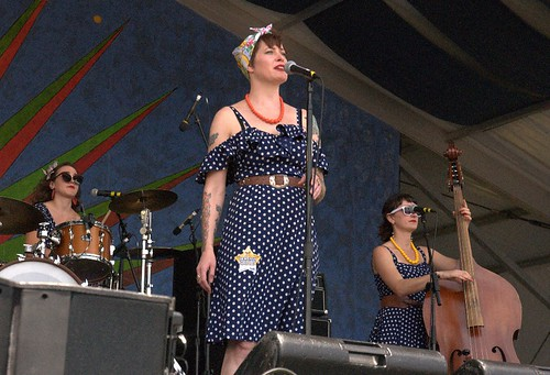 Gal Holiday on the Gentilly Stage. . Photo by Black Mold.