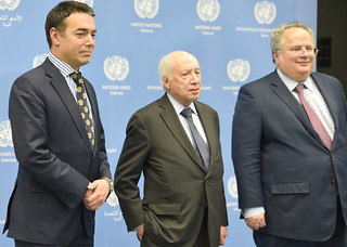 Meeting of Matthew Nimetz with Ministers for Foreign Affairs of Greece and the former Yugoslav Republic of Macedonia at the UN in Vienna