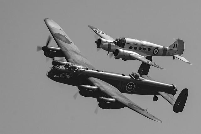 Lancaster & Anson Flypass