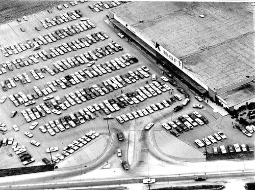 Aerial view of Champaign Kmart, December 21, 1968 | by The Urbana Free Library Digital Collections