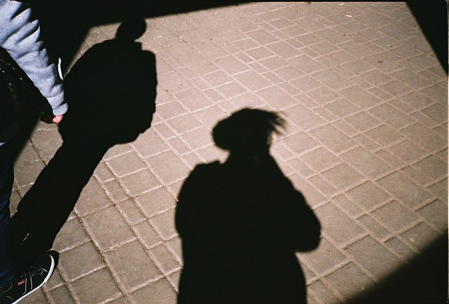 selfie with stranger