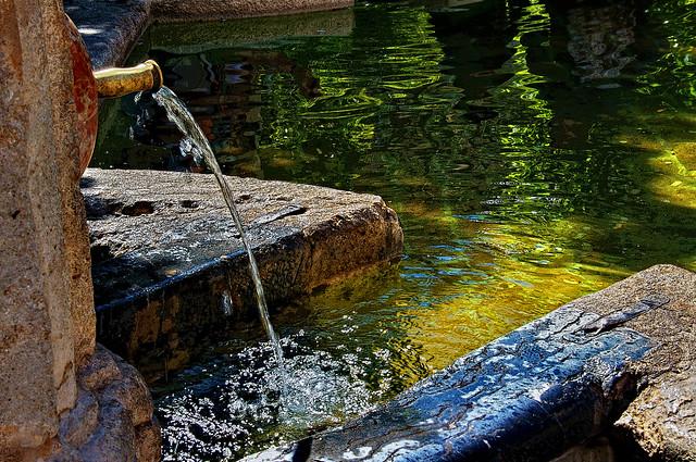 Fuente y alberca