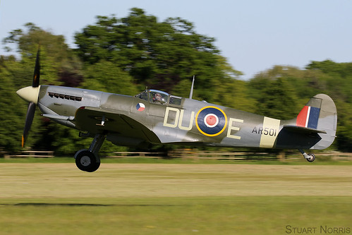 Spitfire LF Mk Vc AR501  G-AWII - The Shuttleworth Collection Old Warden | by stu norris