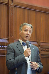 CT State Rep. Fred Camillo (R-Greenwich) speaks on House floor during the final week of the 2018 Session