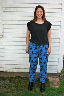 Simplicity 1696 Slim Pants...in Octopus fabric | by patternandbranch