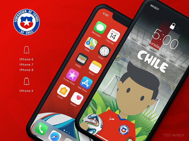Team Chile iPhone Wallpaper