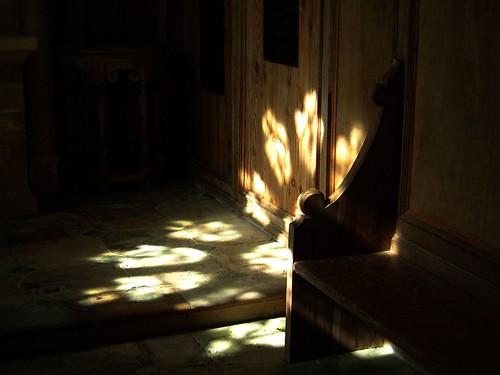 Chapel - rose window darkened