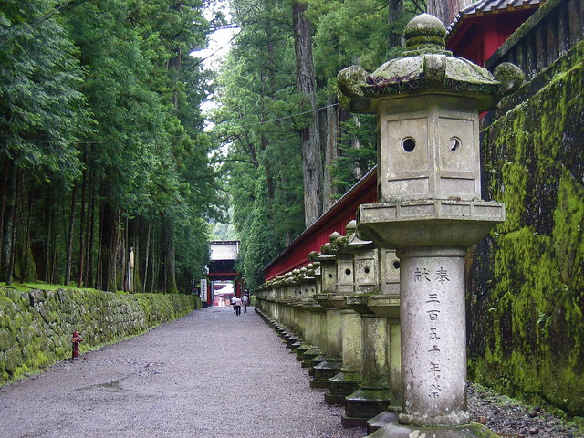 path with lanterns