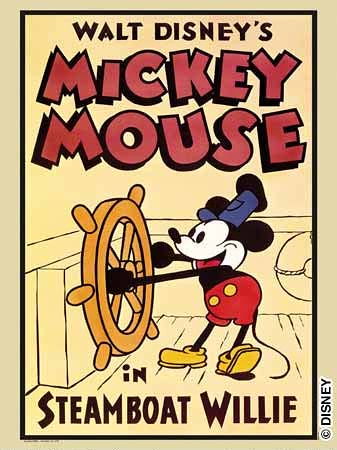 Original steamboat willie poster
